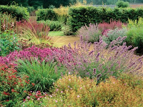 Tips for drawing up a planting plan for various styles such as this prairie drift planting