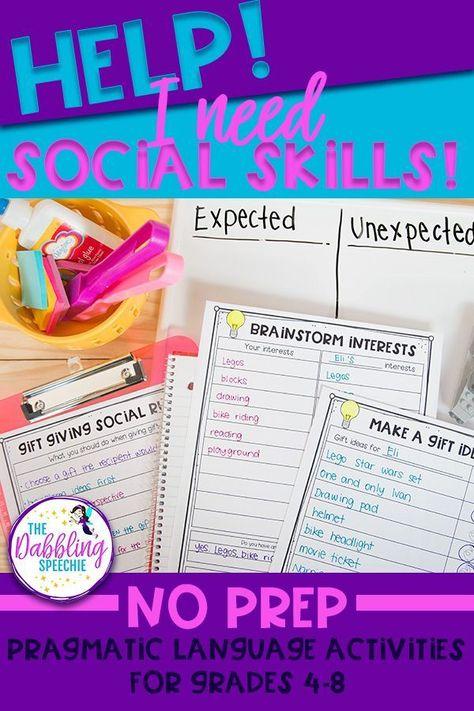 HELP! I Need Social Skills- Resources For Social Pragmatics