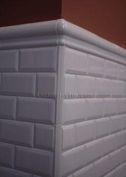 chair rail tile outside corner best of