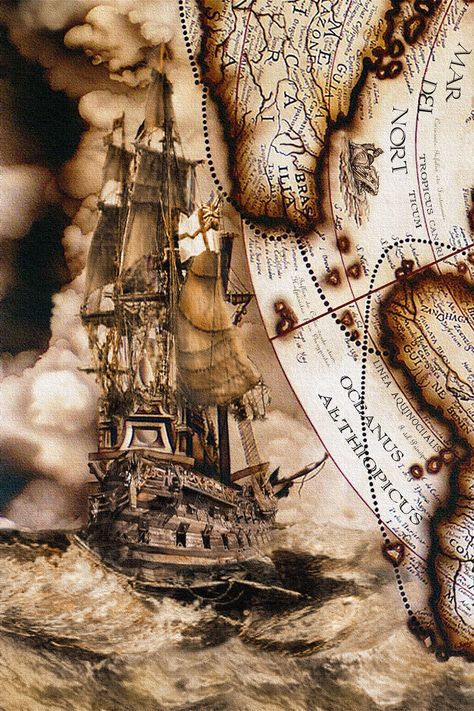 Vintage map murals painted on an entry foyer elevator and ceiling for a nautical themed home on the Gulf of Mexico. Pirate Maps, Old Sailing Ships, Map Tattoos, Tattoo Drawings, Pirate Life, Old Maps, Vintage Maps, Antique Maps, Tall Ships