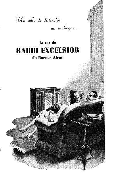 Publicidad de RADIO EXCELSIOR, Buenos Aires, 1949. | Publicidad ...