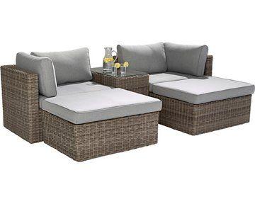 Lounge Set Olea 5 Teilig Aus Polyrattan Sand Kaufen Bei Obi Lounge Gartenmobel Lounge Mobel Lounge