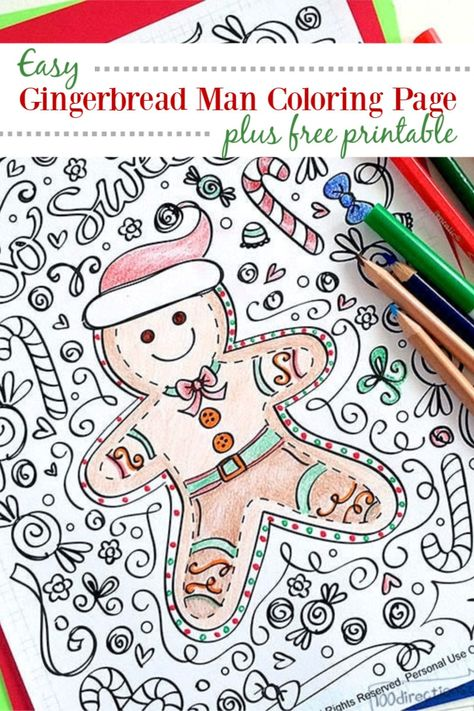 Gingerbread Man Coloring Page 100 Directions Gingerbread Man Coloring Page Coloring Pages Gingerbread Man