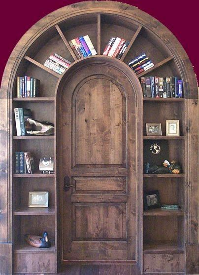 I could have a Harry Potter room this would be the door you went through to g., If I could have a Harry Potter room this would be the door you went through to g., If I could have a Harry Potter room this would be the door you went through to g. Bookcase Door, Barrister Bookcase, Revolving Bookcase, Built In Bookcase, Harry Potter Room, Wooden Doors, Wooden Arch, Salvaged Doors, Wooden Shelves