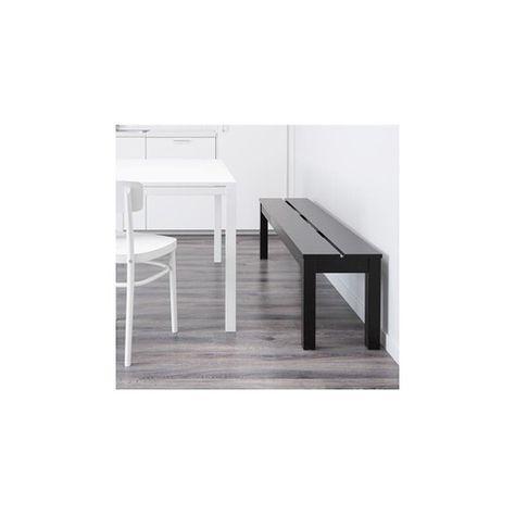 ספסל BJURSTA | Living room bench, Black dining bench, Ikea