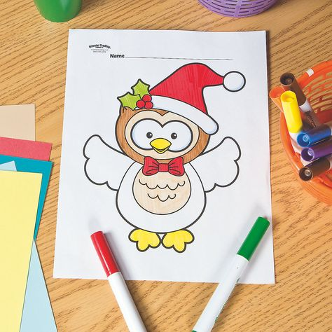 Free Printable Christmas Coloring Pages Oriental Trading ...