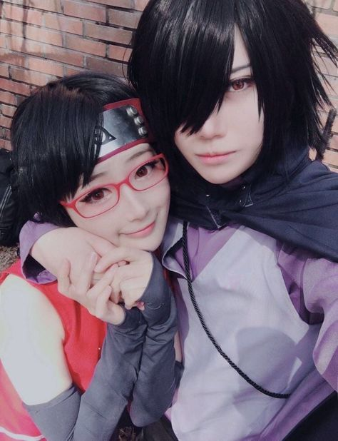 Sasuke and Sarada cosplay💕 uploaded by 🎀💗Shana-Chama Chu💗🎀