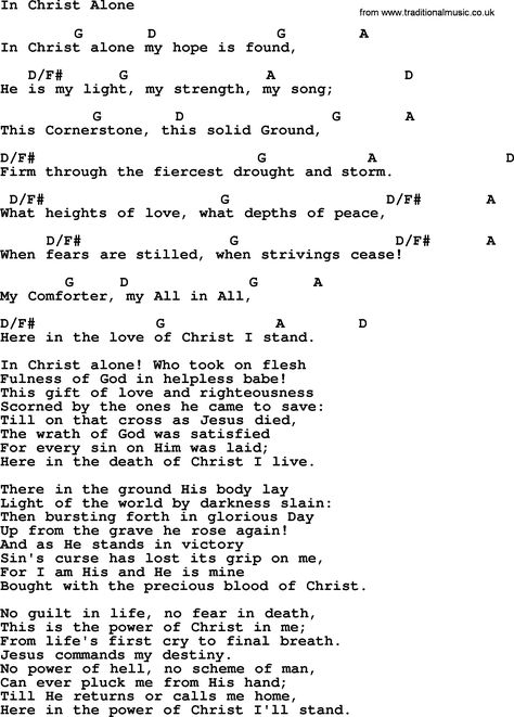 in christ alone chords - Yahoo Malaysia Image Search results ...