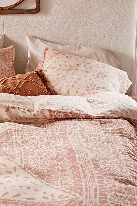 Eva Tile Crinkle Gauze Duvet Cover In 2021 Duvet Covers Rustic Duvet Cover Duvet Covers Urban Outfitters