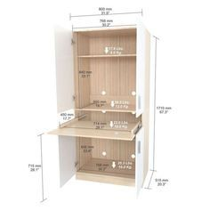 Inval Laricina White Computer Desk - The Home Depot