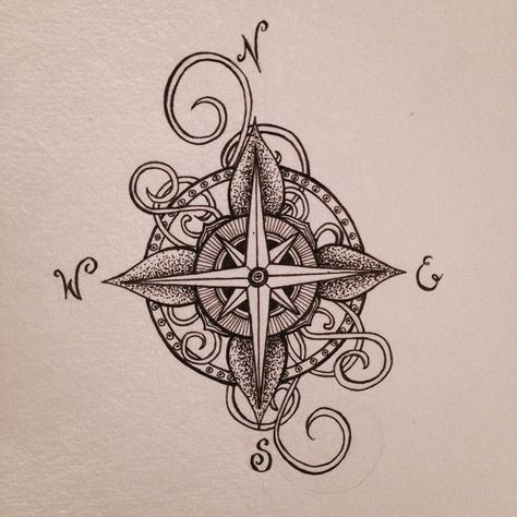 #compass #designed #Friend #man #Tattoo #tattoodesign