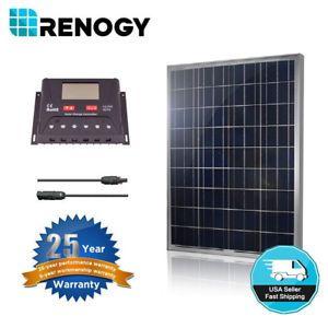Renogy 100w Solar Panel Bundle Kit 30a Pwm Lcd Controller 12v 24v Off Grid Yacht Solar Panels Solar Heating Solar