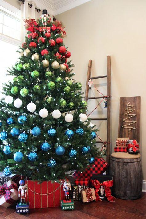 A Colorblock Nutcracker Christmas Decor Nutcracker Christmas Decorations Elegant Christmas Trees Christmas Tree Decorations