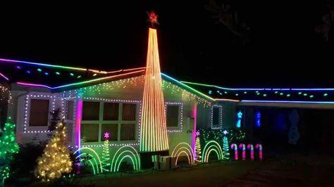 Star Wars Uptown Funk Christmas Lights Star Wars Christmas Lights Christmas Light Show Christmas Lights