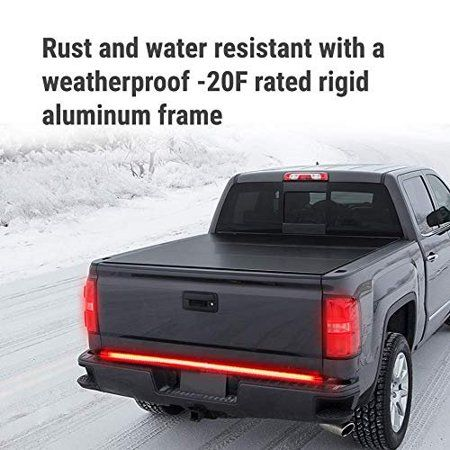 60 Triple 1200 Led Tailgate Light Bar W Sequential Amber Turn Signal 1 200 Led Solid Beam Weatherproof No Drill Install Full Function Reverse Brake Runni In 2020 Weatherproofing Led Tailgate Light Bar Installation