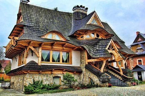 Bitner Photograph - Zakopane Cottage by Mariola Bitner #Madera