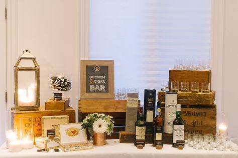 Scotch and Cigar Bar for wedding