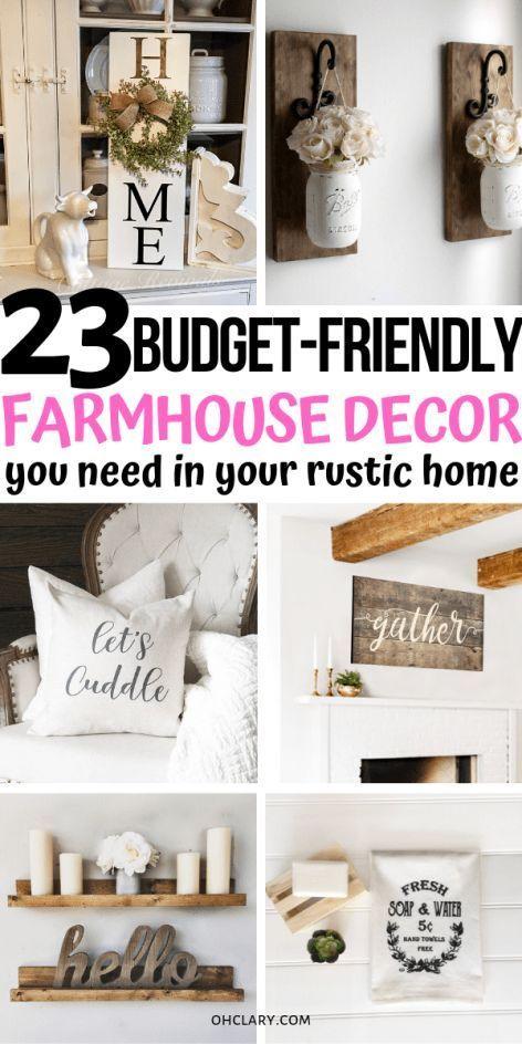 23 Farmhouse Decor Items Where