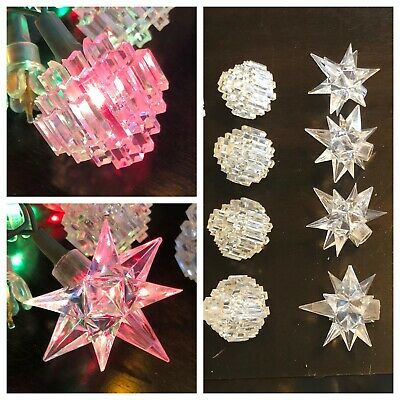 Vintage Deco Stars Crystal Chandeliers Christmas Light Covers