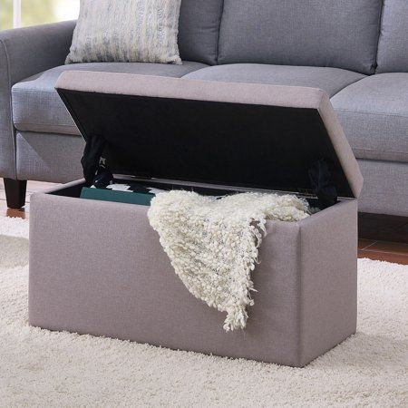 Better Homes And Gardens 30 Hinged Storage Ottoman Brown