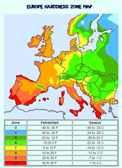 Europe Hardiness Plant Zone Map With Images Plant Hardiness