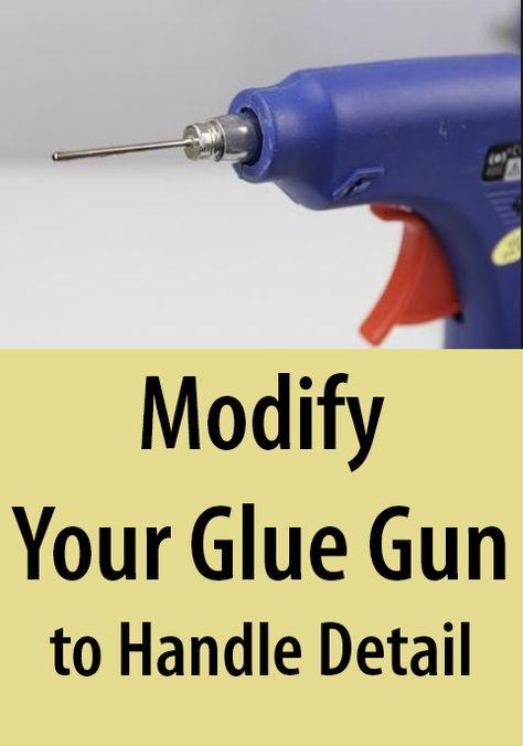 TO MAKE a MODED GLUE GUN / Tutorial / DIY Attach a ball pump needle to the tip of your glue gun to extrude a finer stream of glue.Attach a ball pump needle to the tip of your glue gun to extrude a finer stream of glue. Glue Gun Projects, Glue Gun Crafts, Diy Crafts, Diy Glue, Crafts With Hot Glue, Dremel Tool Projects, Hot Glue Art, Fun Craft, Craft Ideas