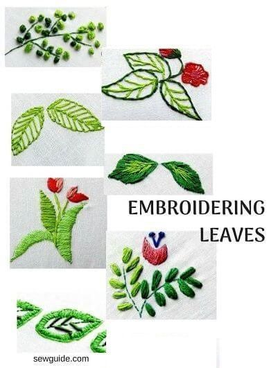 Leaf Stitch Tutorial : stitch, tutorial, Simple, Embroidery, Stitches, Embroider, Leaves, Fabric, Leaf,, Embroidery,, Flowers, Pattern