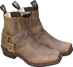Details zu Buffalo Boots Stiefel 1808 Brown Damen und Herren Engineerstiefel Braun