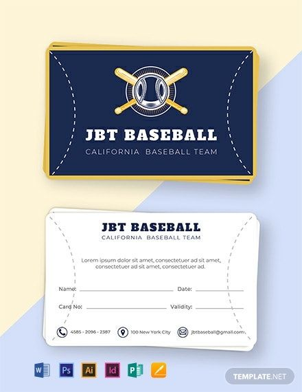 Free Baseball Card Template Word Doc Psd Indesign Apple Mac Pages Illustrator Publisher Baseball Card Template Trading Card Template Make Business Cards