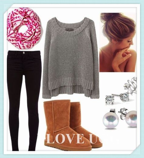 This is super cute, its very warm and cozy. Its the perfect fashion for fall time. Its just adorable and casual at the same time. #Ugg #Boots #Cheap #Fashion