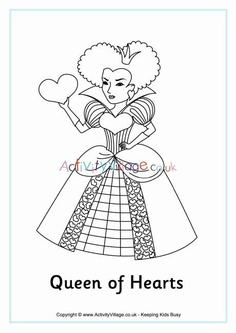 Queen Of Hearts Coloring Pages Best Of Queen Of Hearts Colouring Page Heart Coloring Pages Coloring Pages Card Art