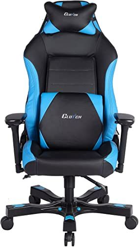 New Clutch Chairz Shift Series Alpha Mid Sized Gaming Chair Black