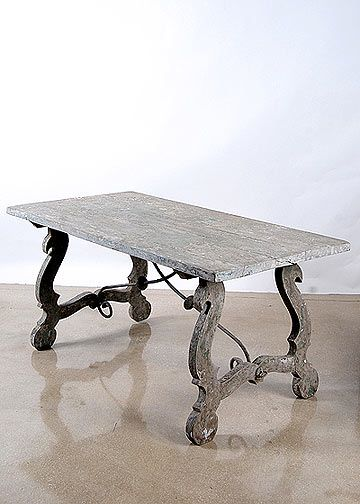 Spanish Antique Console Iron Trussle Table With Beautiful Patina | Durango  Dining Room | Pinterest | Paisley Stencil, Trestle Tables And Tabletop