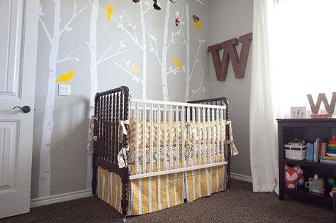 Saia Para Berço Nursery Room Woodland Yellow