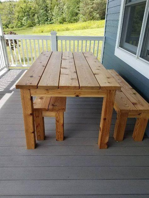 Outdoor Cedar Picknicktisch Set In 2020 Diy Outdoor Table