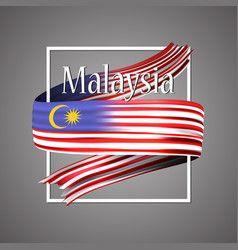 Malaysia Flag Official National 3d Vector Malaysia Flag Flag