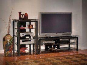 Bush Furniture Midnight Mist Audio Tower In 2020 Bush Furniture Furniture Flat Screen Tv Stand