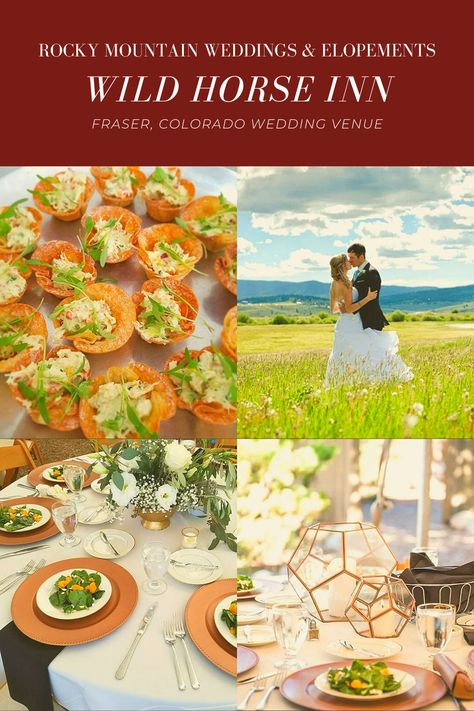 Your special day deserves breathtaking scenery in a romantic and secluded natural setting. Our romantic Fraser, Colorado wedding venue delivers all that and more. Our in-house wedding planner and catering company will help create the mountain wedding of your dreams. Accommodations for up to 26 guests. Inquire today! #frasercolorado #weddingvenue #winterparkco #coloradoelopements #rockymountainwedding #wildhorseinn