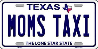 Smart Blonde LP-7902 American Flag With Blue Police Novelty Metal License Plate
