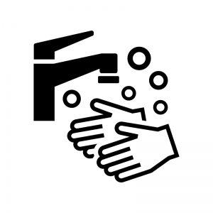 手洗いのシルエット03 無料のai Png白黒シルエットイラスト シルエット イラスト ピクトグラム イラスト