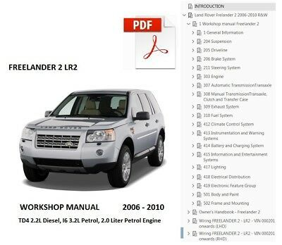 Advertisement Ebay Land Rover Lr2 Freelander 2 2006 2007 2008 2009 2010 Service Workshop Manual In 2020 Land Rover Freelander 2 Manual