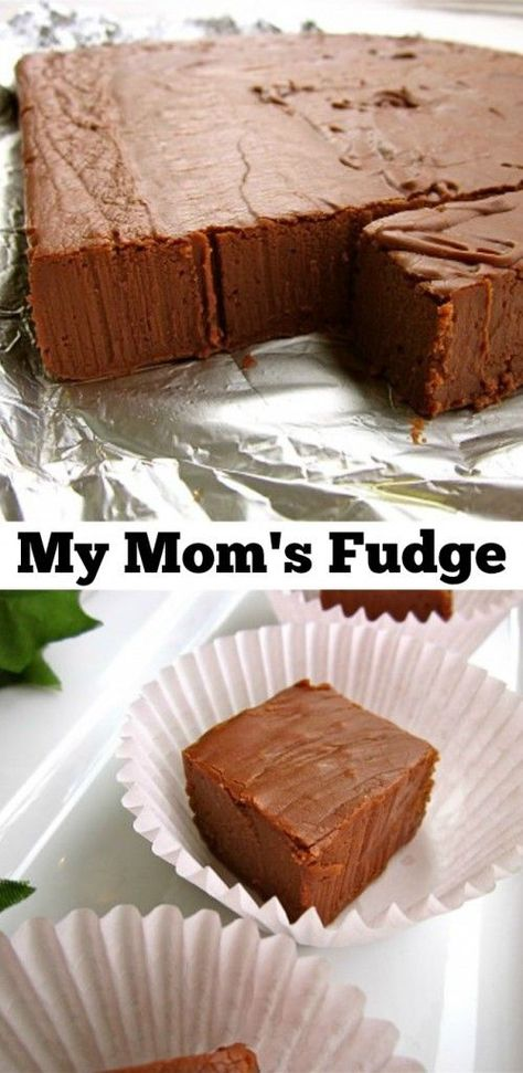 My Mom's Fudge from The Food Charlatan // This is the original Fantasy Fudge that used to be on the Marshmallow creme jar! It's so good!