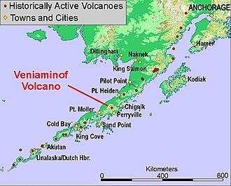 Location Of Veniaminof Volcano Image Courtesy Chris Nye Alaska