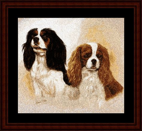 Spaniels - Cross Stitch Collectibles fine art counted cross stitch pattern