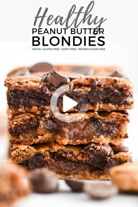 Diese gesunde Erdnussbutter Blondies sind glutenfrei, milchfrei, raffiniert-zuckerfrei und vegan freundlich! Hergestellt mit Kichererbsen, aber sie würde es nie wissen! Es ist das perfekte gesunde Dessert Rezept, dass Sie schwelgen in großen fühlen! #blondies #peanutbutter #healthy #Recipe #baking #glutenfree #dairyfree #vegan #refinedsugarfree über @joyfoodsunshine #gesunderezepte