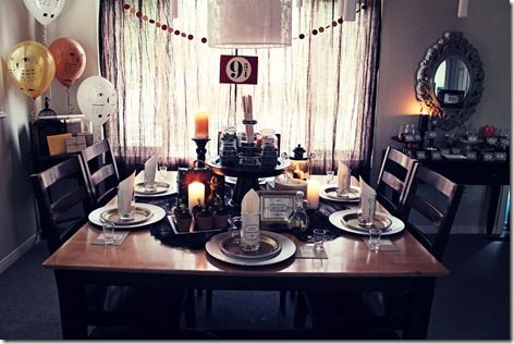 Harry Potter party from Workman Family, awesome floating candles, legit butter beer idea, and all together adorable party