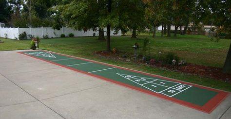 Backyard Shuffleboard Outdoor Basketball Court Outdoor