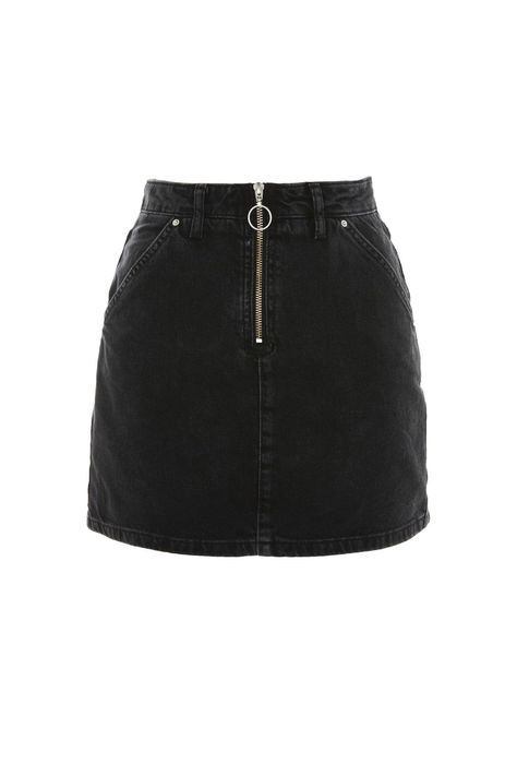 Head below to see the denim-skirt attire style females are wearing this plummet.