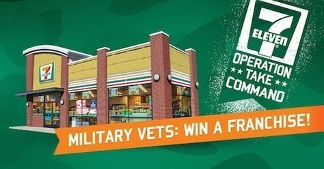 As part of Operation: Take Command, eligible military veterans from all branches of service can enter to win a 7-Eleven store franchise.  Deadline to enter is January 25, 2015.