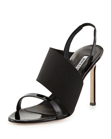 Petto Patent Crossover Sandal Black in 2019 | the Black shoe